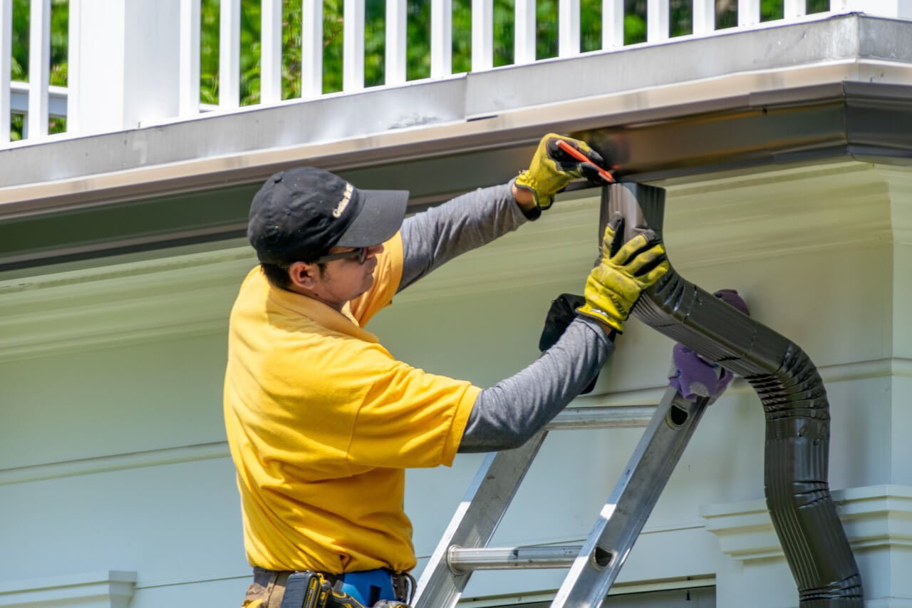 Gutter Bros LLC Install New Rain Gutters Downspouts Stamford CT (203) 316-8526
